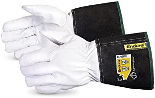 Superior 370GFKL Precision Arc Goatskin Leather Welding Gloves with Kevlar Lining, TIG Welding Gloves, X-Large (1 Pair)