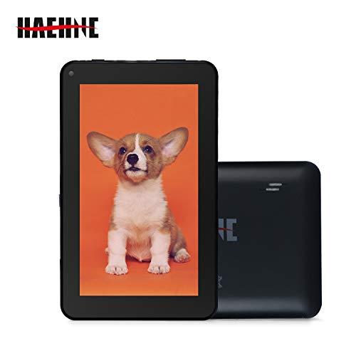 Haehne 7 Zoll Tablet PC, Google Android 9.0 GMS Zertifiziertes, HD Bildschirm, 1GB RAM 16GB ROM, Bluetooth, WiFi, Schwarz