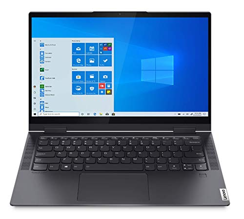 Lenovo Yoga 7 - Ordenador Portátil táctil Convertible 14' FullHD (Intel Core i7-1165G7, 16GB RAM, 1TB SSD, Intel Iris Xe Graphics, Windows 10 Home), Lenovo Digital Pen, Gris, Teclado QWERTY Português