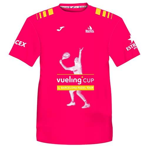 Barcelona Padel Tour | Camiseta Manga Corta Técnica Vueling Cup Hombre | Estampación Especial de Pádel | De Tacto Suave y Secado Rápido | Ropa Deportiva