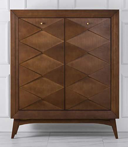 Casa Padrino Neoklassik Kommode Holzfarben Braun 120 x H143 cm - Sideboard Art Deco Möbel