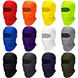 Zhanmai Full Face Cover UV Protection Neck Gaiter Breathable Balaclava Hood for Outdoor Motorcycle Cycling (Bright Colors, 12)