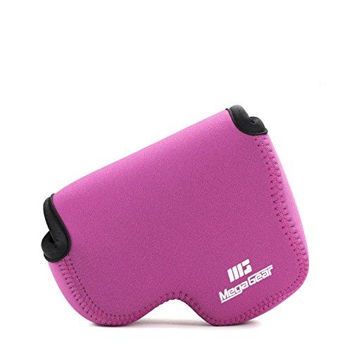 MegaGear Nikon Coolpix B500 Ultraleichte Kameratasche aus Neopren mit Karabiner Haken rosa