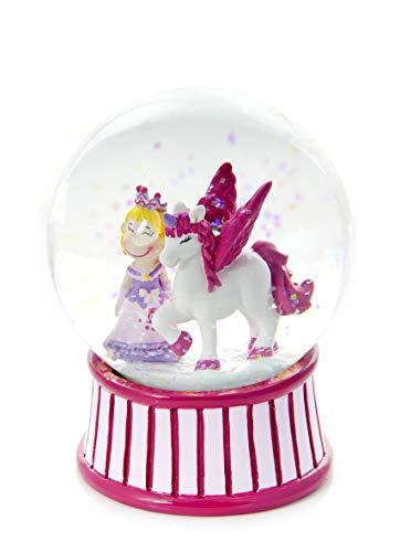 Rosa Prinzessin- und Einhorn Schneekugel