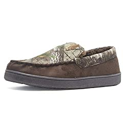 top rated Realtree Men Slippers Memory Foam Camo House Loafers Indoor / Outdoor Brown / Camouflage Large USA 2021