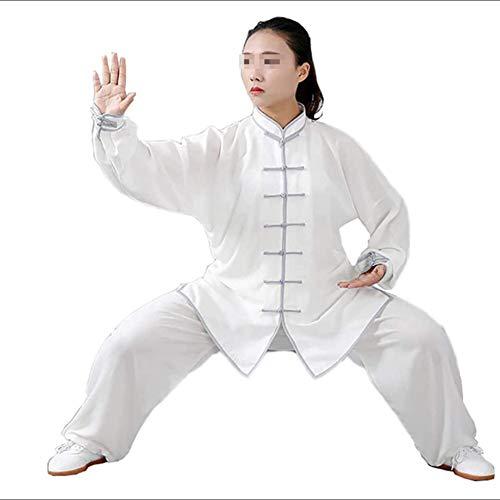 GAO-bo Tai Chi Kung-Fu, Taiji Ropa Tang Juego de los Hombres/Mujeres Wing Chun Tai Chi Fina y Transpirable Camisas y Pantalones (Color : E, Size : Small)