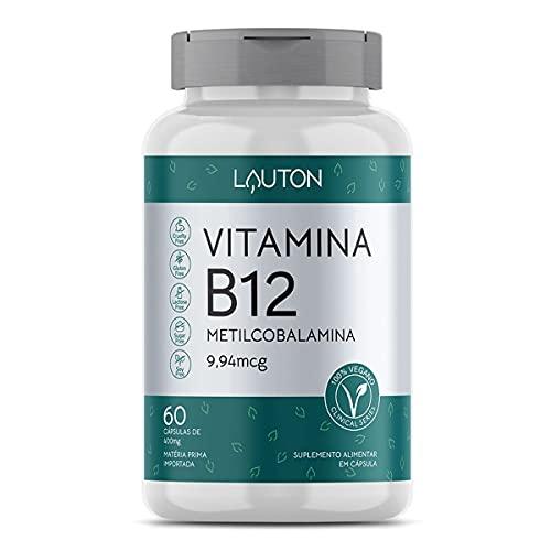 Vitamina B12 Metilcobalamina - 60 Cápsulas - Lauton Nutrition, Lauton Nutrition