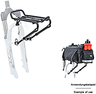 Desconocido Author Bicicleta portaequipajes ACR de 30Delantero Horquilla de Aluminio Montaje 5kg Negro