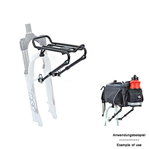 Author Fahrrad Gepäckträger ACR-30 vorn Aluminium Gabelmontage 5Kg schwarz