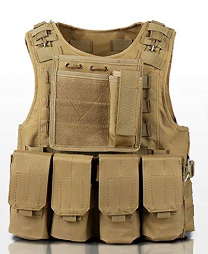 MILASIA Kids Tactical Vest, Kinderen Outdoor Sport Tactische Vest Jacket Woodland Army Combat Waistcoat Training Vest, Outdoor Hunting CS Games