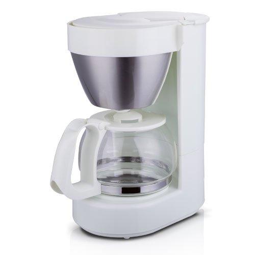 TM Electron Cafetera de jarra con filtro por goteo, capacidad para 4 a 6 tazas, 650 ml, 600W, color blanco