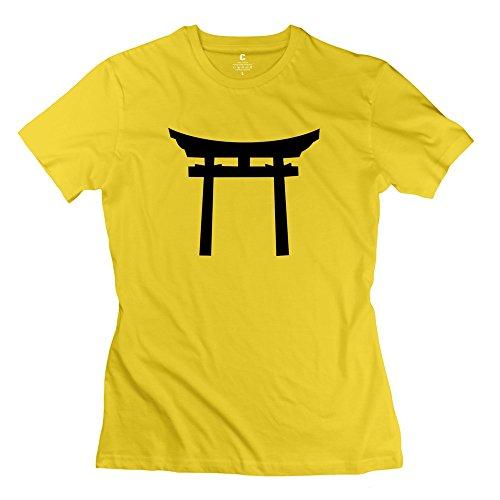 『智航 カジュアル 半袖 女性 日本の鳥居 1 販売 ポロシャツ XXLサイズ』のトップ画像
