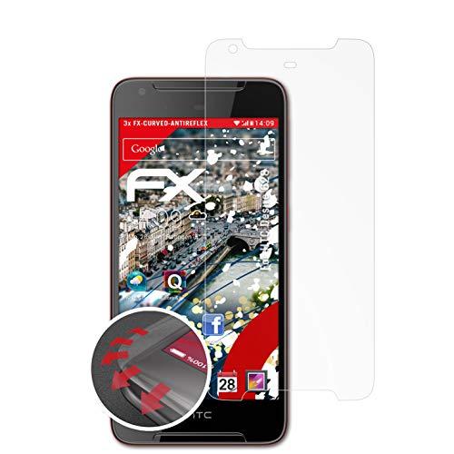 atFolix Schutzfolie kompatibel mit HTC Desire 628 Folie, entspiegelnde & Flexible FX Bildschirmschutzfolie (3X)