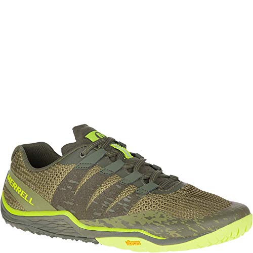 Merrell Trail Glove 5, Zapatillas Deportivas para Interior para Hombre, Verde (Olive Drab), 40 EU