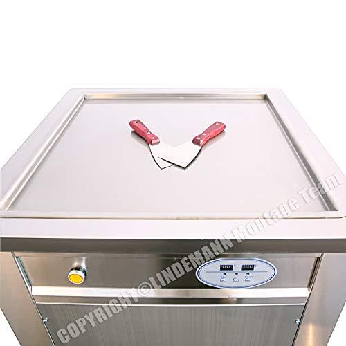 Profi Speiseeismaschine Roll-Eis mit Kompressor und Eisplatte 60x60cm Eiscreme Maker 1800W