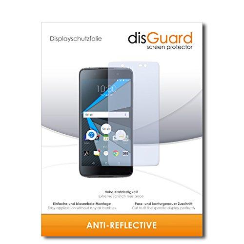 disGuard® Bildschirmschutzfolie [Anti-Reflex] kompatibel mit BlackBerry DTEK50 [2 Stück] Entspiegelnd, Matt, Antireflektierend, Extrem Kratzfest, Anti-Fingerabdruck - Panzerglas Folie, Schutzfolie