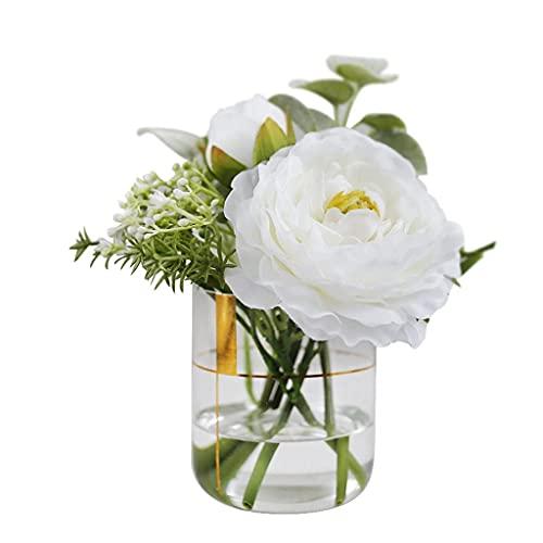 GPWDSN Flores artificiales Mini flores falsas realistas artificiales ramo de flores de...