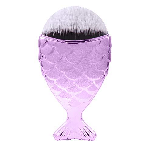ZHQHYQHHX Pinceaux de Maquillage 4PCS UE sirène échelle Maquillage Pinceau Queue de Poisson Brosse Pinceau Fishscale beauté Joues Blush Outils de Maquillage (Color : Rose, Size : One Size)