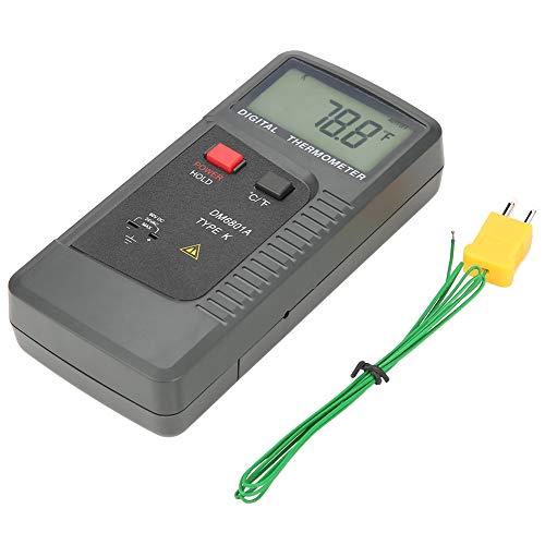 DM6801A Termometro digitale a termocoppia K/J, Termometro a contatto a doppio canale