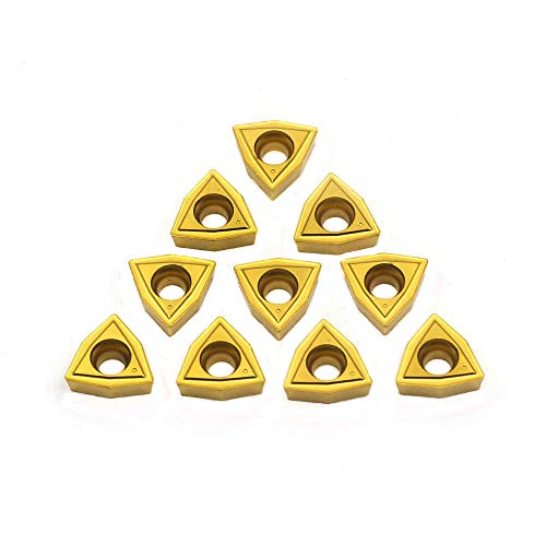 OSCARBIDE WCMT050304(WCMT2.52) Carbide Turning Inserts,WCMT Inserts CNC Lathe Insert for Indexable Lathe Turning Tool Holder Insert Replacement,10 pcs/Pack