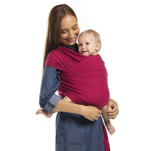 Boba Wrap Baby Carrier, Sangria - Original Stretchy Infant Sling, Perfect for Newborn Babies and Children up to 35 lbs