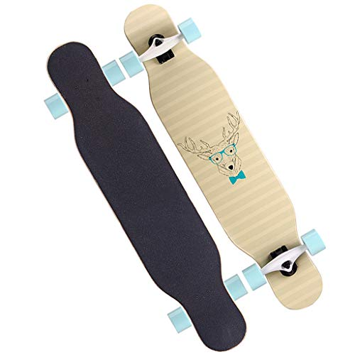 42 Zoll Longboard, Komplett Skateboard Mit High Speed ABEC Kugellagern, Drop-Through Freeride Skaten Cruiser Boards,E