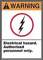 185グレートティンサインアルミニウム警告電気的危険許可された人員のみ屋外および屋内サイン壁の装飾12x8インチ