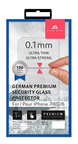 Black Rock - Display-Schutz Premium Glass Screen Protector 0,1 mm 9H für Apple iPhone 6/6S/7/8 | Schutzglas, Schutzfolie, Panzerglas (Transparent)