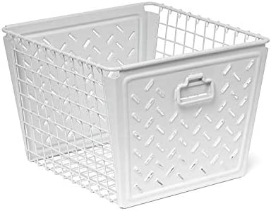 Spectrum Diversified Macklin Stamped Steel Wire Basket for Closet Cubby Storage Vintage Inspired product image