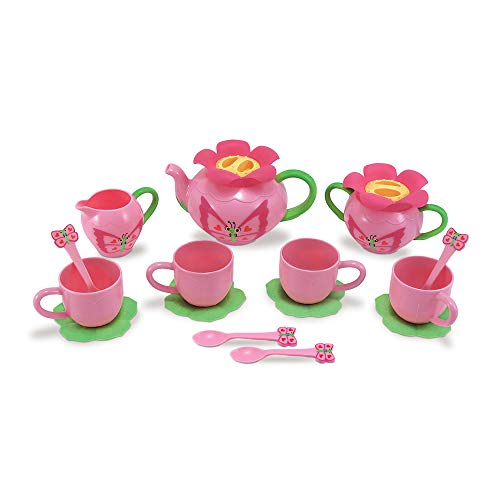 Melissa & Doug Bella Butterfly Pretend Play Tea Set (Pretend Play, Food-Safe Material, BPA-Free, Durable Construction, Frustration-Free Packaging)