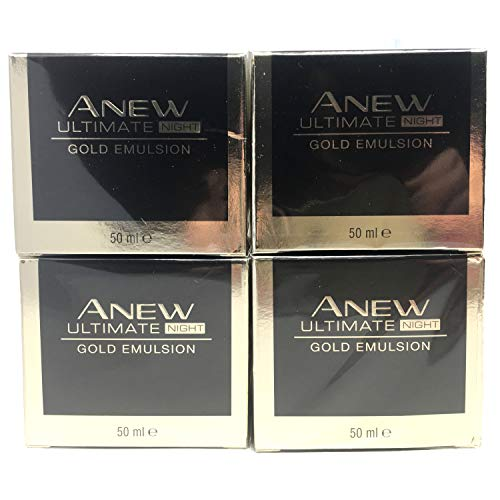 4 x Avon Anew Ultimate 7S Nachte Gold Emulsion 50ml Set