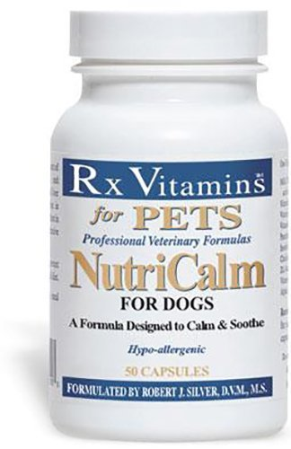 Rx Vitamins NutriCalm for Dogs - Veterinary Formula to Calm & Soothe Aggressive Behavior - Hypoallergenic - 50 Capsules