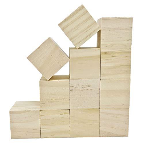 AIVORIUY Bloques de Tallar de Madera de Tilo, Bloque Madera Natural para Tallar, Sin Acabado Listones de Madera Manualidades, Kit de Tallado en Madera Premium para Principiantes de 5 x 5 x 5 cm
