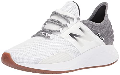New Balance Women's Fresh Foam Roav V1 Running Shoe, Munsell White/Black, 9