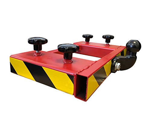 Gabelstapler Rangierhilfe Rot Doppel-Gabel Anhänger Kugelkopf Anhängerkupplung