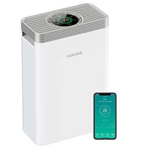 Luftreiniger HEPA, Hosome H13 Leiser Luftfilter, Air Purifier entfernt bis zu 99,9{a55000a31ca67e9f7dcb22097853b61b00ee38b4f104bdd3f1ea9dc2738e25b0} der Pollen Haustier Hautschuppe usw. Timer Schlafmodus 22dB Leiser, LED Touchscreen, Kompatibel mit Alexa