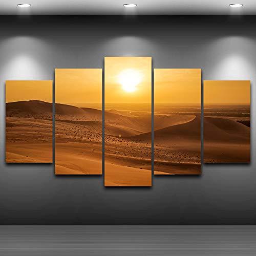 zlhcich No Frame Moderner Rahmen Wohnzimmer Dekor 5 Stück Tropische Sensation zu Fotobildern auf Leinwand Wandkunst für