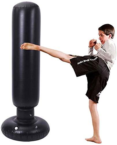 Punch bag free standing Inflatable Boxing MMA Punching Target Bag Free-Standing Free Standing Tumbler Column Sandbag punch bag iteration