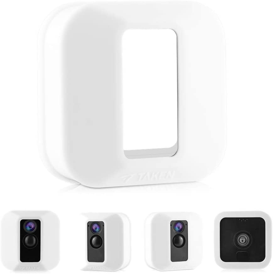 Silicone Skins Compatible for Blink XT Cameras, Tyrone Camouflage Protective Case Cover for Blink XT Outdoor Home Security Camera Accessories ( White ) (2 Pack)