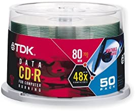 TDK CD-R80CB50 700 MB/80-Minute 48x Data CD-R (50-Pack Spindle) (Discontinued by Manufacturer)