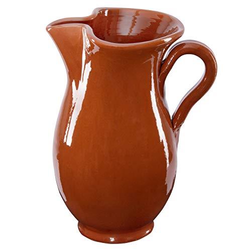 MamboCat 1.9L Tonkrug braun-glasiert   kühlende Wein-Karaffe   Sangria-Kanne rustikal  ...