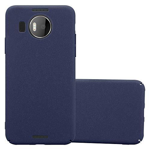 Cadorabo Custodia per Nokia Lumia 950 XL in Frosty Azzurro - Rigida Cover Protettiva Sottile con Bordo Protezione - Back Hard Case Ultra Slim Bumper Antiurto Guscio Plastica