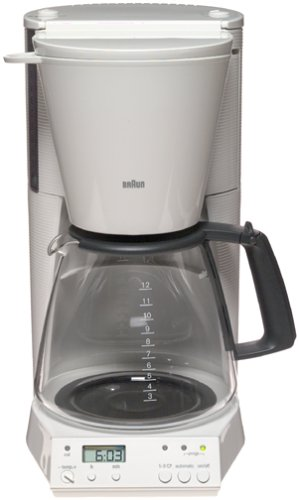 Braun KF187W FlavorSelect 12-Cup Coffeemaker, White