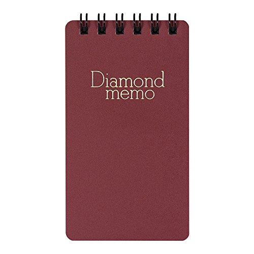 デザインフィル ダイヤメモ 4冊パック 横罫 S 赤 19001021