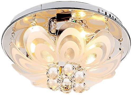 TAIDENG Luces de Techo LED Lámpara de Techo de Cristal de Ahorro de energía Vidrio Redondo Creativo Lámpara Decorativa Dormitorio Sala de Estudio 20 * 40 cm Luces de Techo