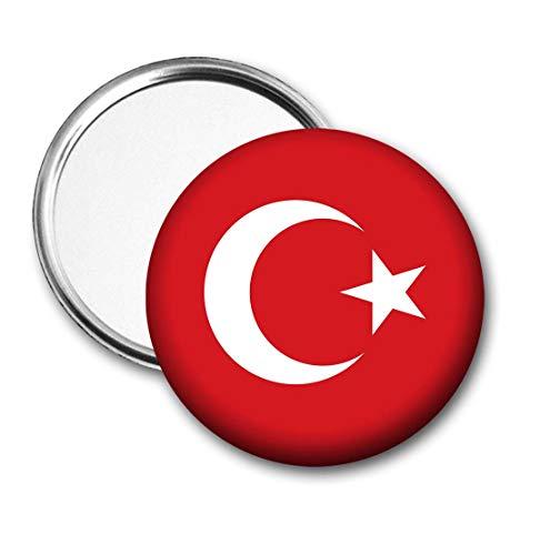 Turkije Vlag Pocket Spiegel voor Handtas - Handtas - Gift - Verjaardag - Kerstmis - Stocking Filler - Secret Santa