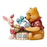 Enesco 6001283 Disney Traditions by Jim Shore Winnie The Pooh and Piglet Easter Figurine, 4.8 Inch, Multicolor