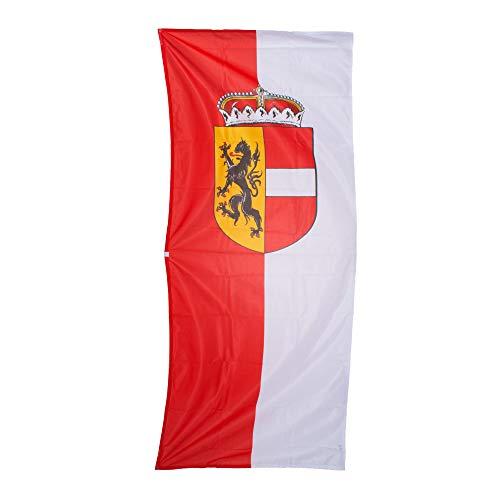 Fahnen Kössinger, Bannerfahne mit Hohlsaum, ohne Querstab, Fahne Bundesland Salzburg, Bannerfahne mit Wappen, hochwertiger Siebdruck, Brillante Farben, rot-weiß, 80 x 200 cm, 1,6 m² Fläche