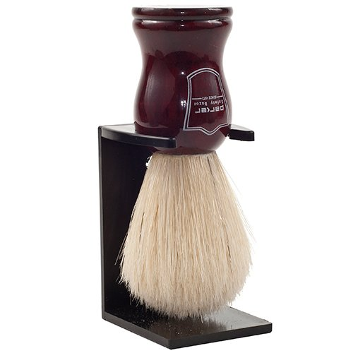 Parker Safety Razor Deluxe 100% Boar Bristle Shaving Brush with Rosewood Handle - Brush Stand Included