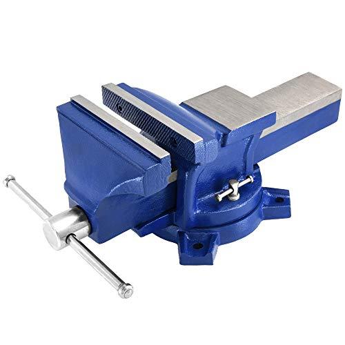 Deuba Schraubstock 150 mm Spannweite 360° drehbar Amboss Tischschraubstock Parallel-Schraubstock Werkstatt Schraubzwinge